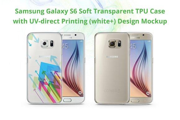 Galaxy S6 TPU Case UV Print Mock-up