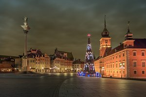 Old Warsaw in winter