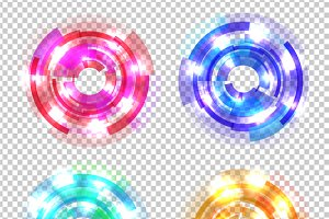 Set of Abstract Colored Circles