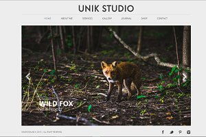 Unik Studio Muse template / HTML