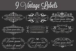 9 Vintage Labels
