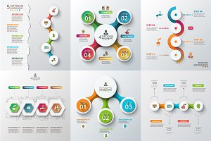 Diagrams for business infographic v3
