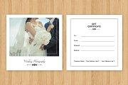 Photographer Gift Certificate-V04