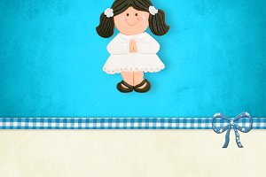 First Holy Communion girl card