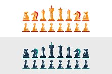 Chess Pieces Icons Set