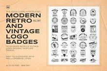 Modern Retro Logo Badges Bundle by  in Templates