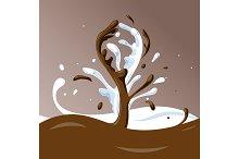 Chocolate Milk Splash.