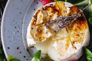 Baked Goat cheese with honey