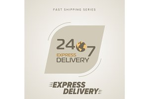 Express Delivery Symbols 24/7