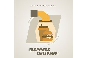 Fast food Delivery, burger