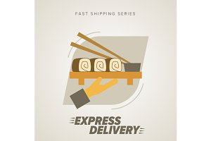 Fast food Delivery, sushi
