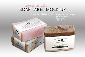 Soap Label Mock-up Horizontal