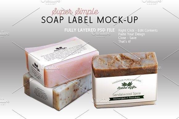 soap box design template - soap label mock up horizontal templates creative market