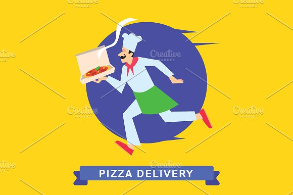 Delivery service of Fast Food Pizza