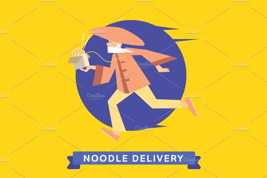 Delivery service of Chinese Noodle
