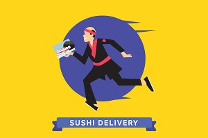 Delivery service of Japanese Food