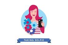 Take a photo selfie