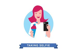 Take a photo selfie