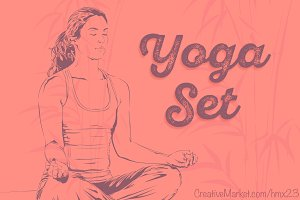 Yoga Set 1 | Vector