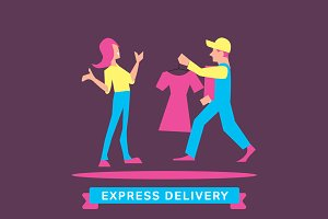 Express Delivery Symbols.