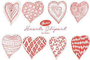 Vector Hearts Clipart