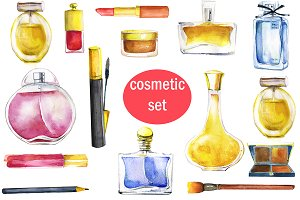watercolor cosmetic set