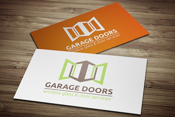 Garage Doors Logo Templates Creative Market
