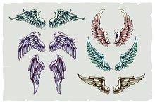 Vintage Vector Wings