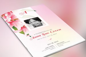 Petals Funeral Program Photoshop