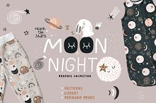 MOON night graphic collection