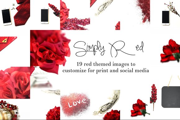 Simply Red Collection  in Product Mockups