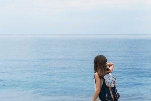 gurzuf crimea traveler sea girl