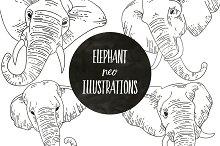 Neo Style Elephant Illustrations