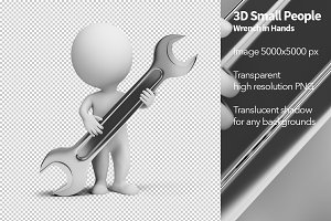 3D Small People - Wrench in Hands