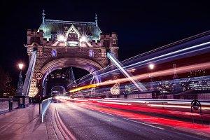 Tower Bridge lights in London