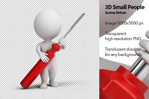 3D Small People - Screw-Driver