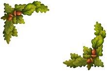 Watercolor Oak Acorns