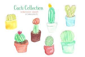 Watercolor Clip Art - Cacti