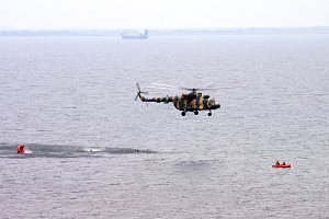 Helicopter. Rescue Occupation