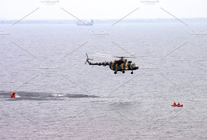 Helicopter. Rescue Occupation - Transportation