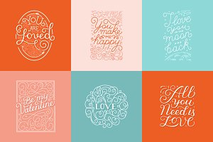 Valentine's cards and photo overlays