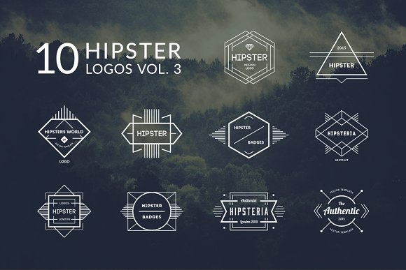 10 Hipster Logos Vol. 3 - Logos