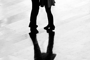 Boy and girl dancing ballroom