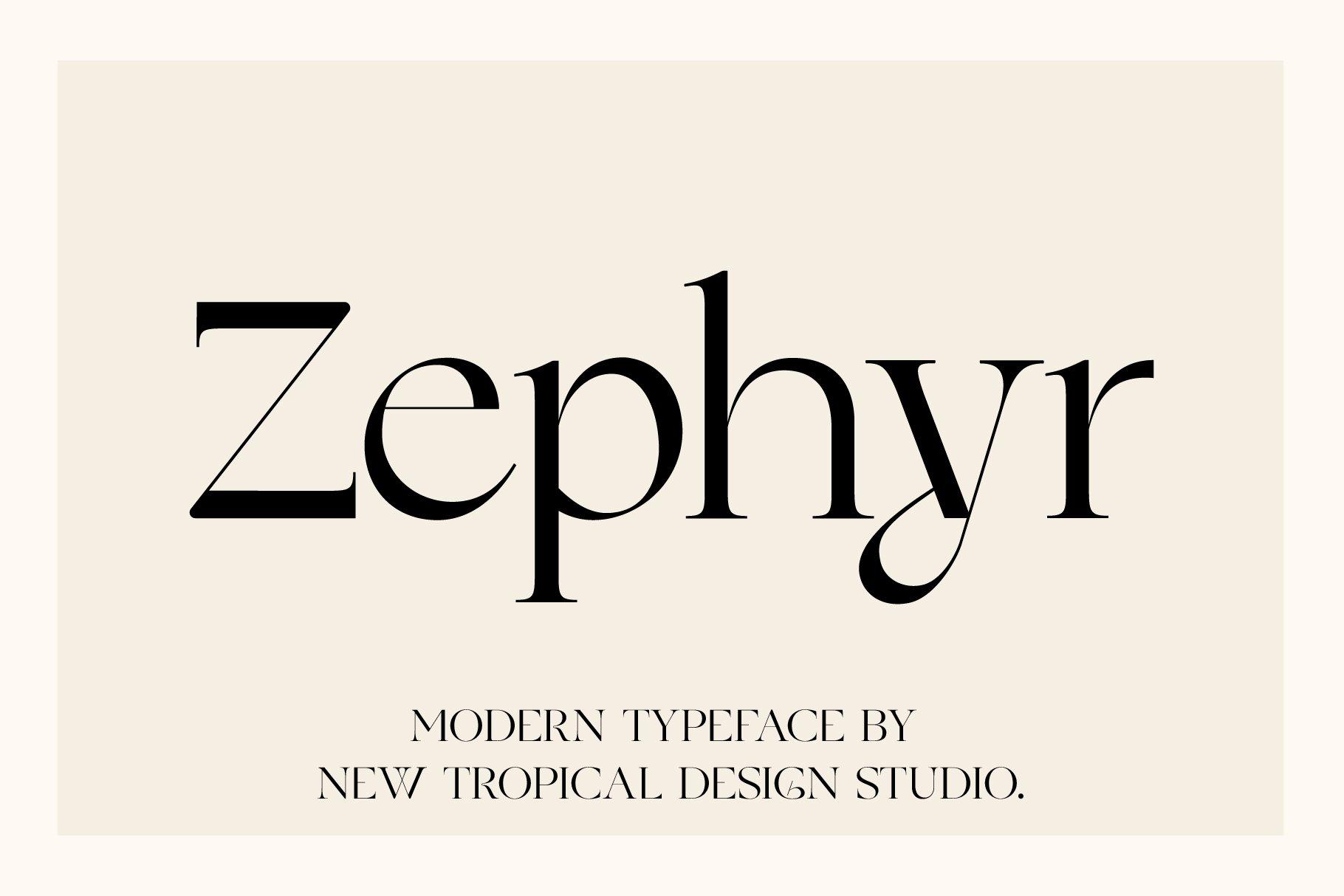 Шрифт – Zephyr