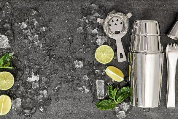 Drink making tools and Ingredients