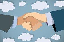 Vector handshake business