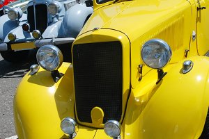 Retro classic car detail