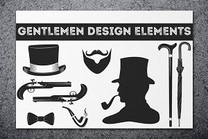Gentleman Design Elements + 3 logos