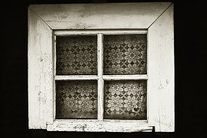 Window of old house.