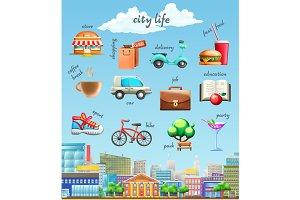 City life icons